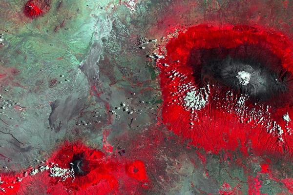 Satellitenfoto des höchten Bergs Afrikas