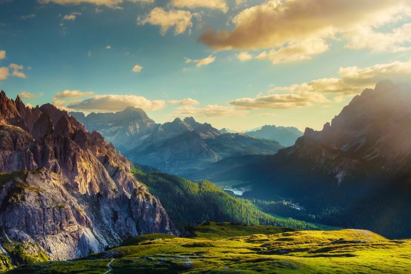 Vegetationsstufen in den Dolomiten