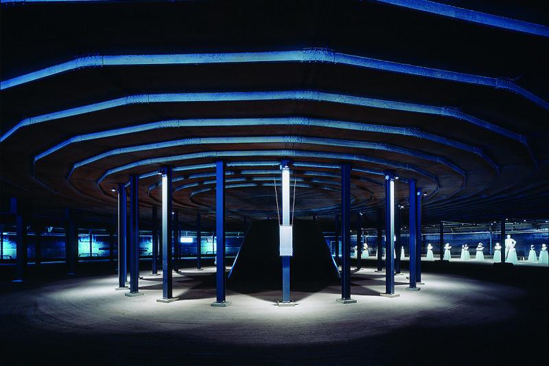 Blick in die untere Ausstellungsebene des Gasometers